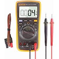 FLUKE 17B + AC/DC Voltaje, corriente, capacitancia, ohmio Rango automático/manual Multímetro digital con medición de temperatura