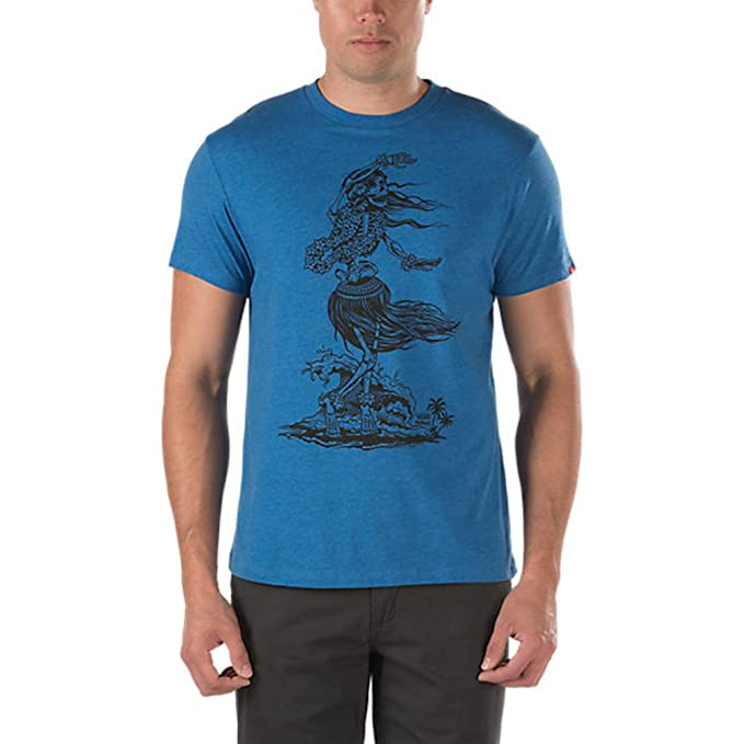 2d8b92f36718 Amazon.com  Vans Mens Dead Hula T-Shirt Blue (S)  Clothing