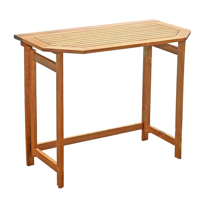 Möbelträume Balcone 90x 50x 74cm balcone tavolo pieghevole in legno di acacia