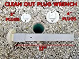 Cleanout plug wrench for 3 and 4 inch sewer caps