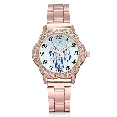 Caopixx - Reloj de pulsera para mujer, elegante, con diamantes de imitación, estilo