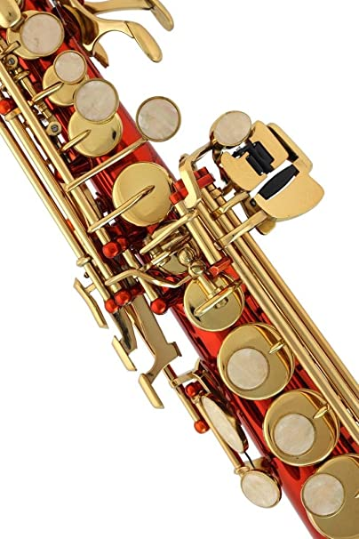 Lazarro - Saxofón soprano recto en si bemol, 11 lengüetas, funda ...