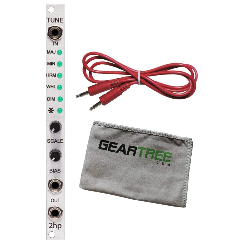 2hp Tune Quantizer Multi-Scale Pitch Quantizer Eurorack Module Bundle w/Cable an