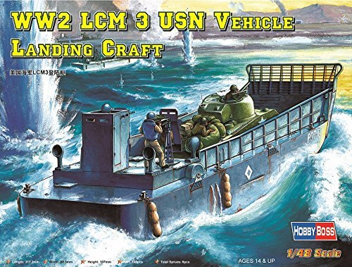 Hobbyboss 1:48 Scale LCM-3 USN Vehicle Landing Craft Assembly Authentic Kit by ()