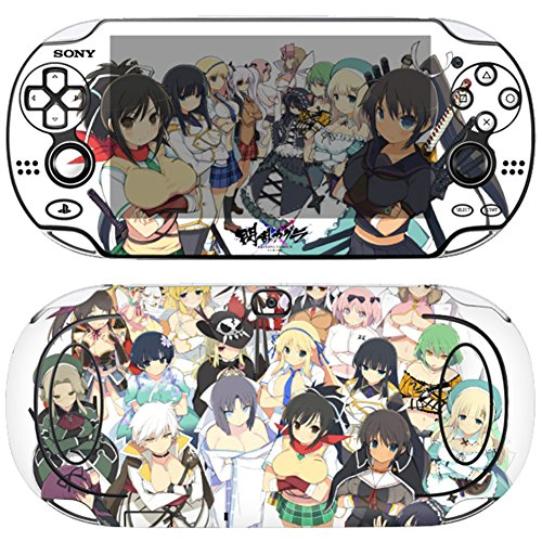 Skin Decals Stickers For PlayStation VITA Original 1st Generation PCH-1000 Series Consoles Korea Made - POP SKIN Senran Kagura #06 + Free Gift Screen Protector Film + Background Wallpaper Image ()