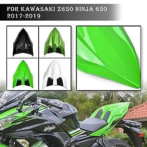 UltraSupplier Rear Pillion Passenger Hard Seat Cover Cowl for 2017 2018 2019 Kawasaki Ninja 650 Ninja650 17-19 (White)