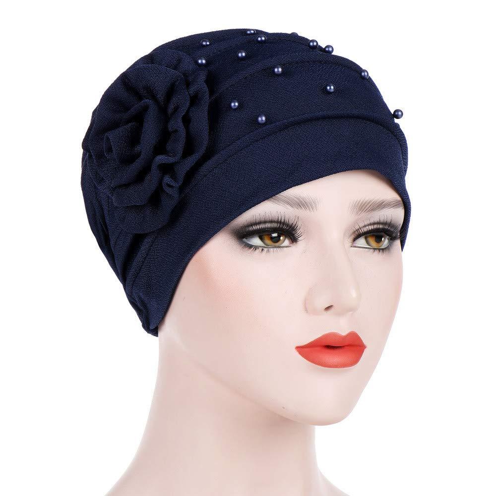 Gessppo Women Winter Head Cap Beading Floral India Hat Ruffle Cancer Chemo  Beanie Turban Wrap Cap Turban Cap Head Scarf at Amazon Women s Clothing  store  e4f06217e3