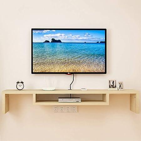LXYFMS Mueble de televisión montado en la Pared Set-Top Box Fondo de la Pared Marco