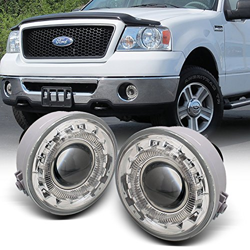 For 05-08 Ford F150 F-150 Pickup Truck LED Halo Projector Fog Light W/Switch + Bulb