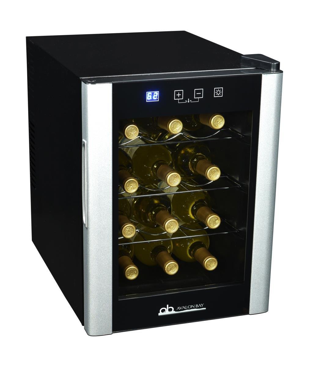 Avalon Bay AB-Wine27DS Wine Cooler 27 Bottle Black//Stainless Steel
