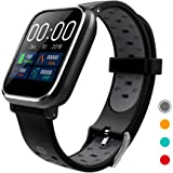CRATEC W5 Activity Tracker Fitness Heart Rate Sleep Monitor Blood Pressure Waterproof Smart Watch, Bluetooth, Long Battery Life, Large Screen Sports Band