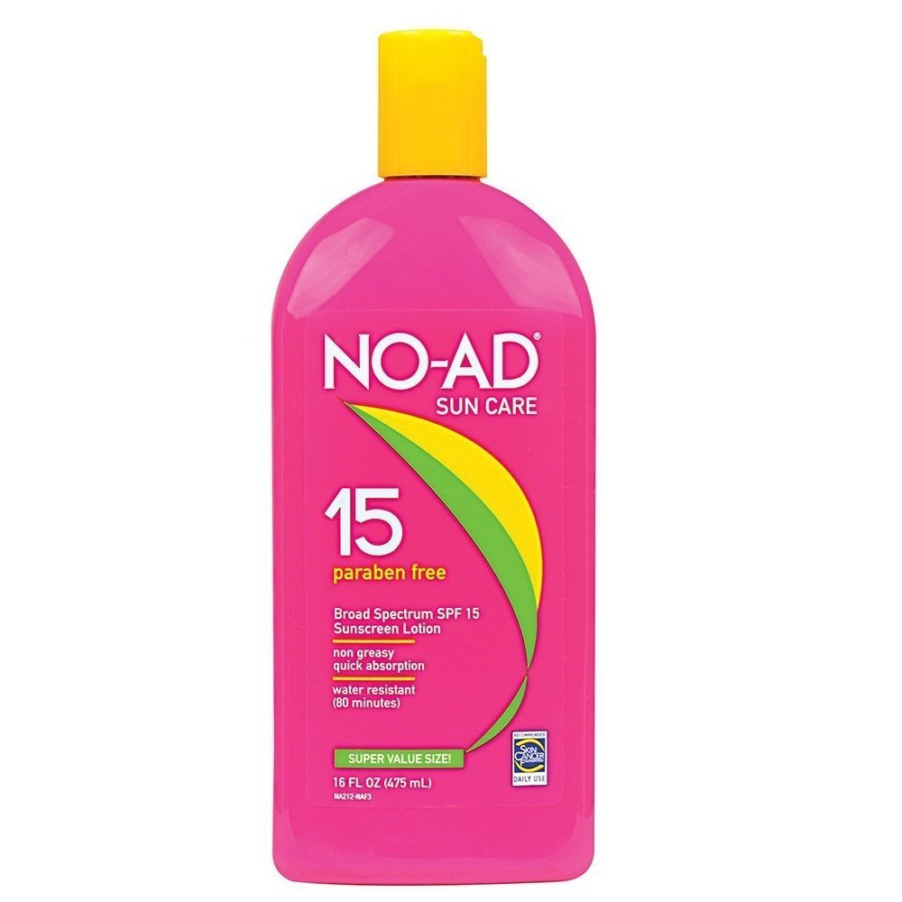 NO-AD Sunscreen Lotion, SPF 15 16 oz (Pack of 12)
