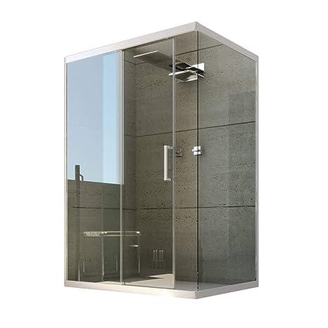 Box Doccia In Vetro Trasparente.Box Doccia Angolare In Pvc 80x110 Cm H190 Vetro Trasparente Mod Glax Profilo Bianco