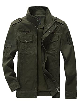 Mallimoda Uomo Primavera Militare Cappotti Trench Zipper Cappotto Slim Fit Casuale