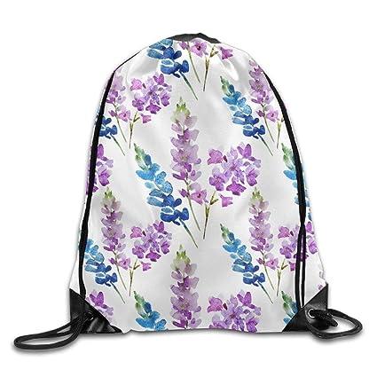 f89e49ccba19 Amazon.com: Drawstring Backpack Gym Bag Travel Backpack, Lavender ...