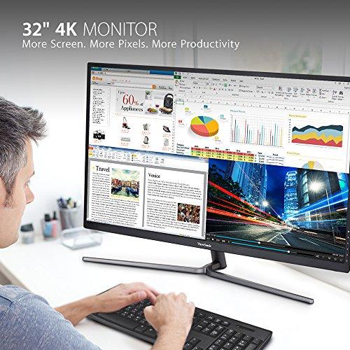 اسعار ViewSonic VX3211-4K-MHD 32 Inch Widescreen IPS 4K Monitor with 99% sRGB Color Coverage HDMI VGA and DisplayPort