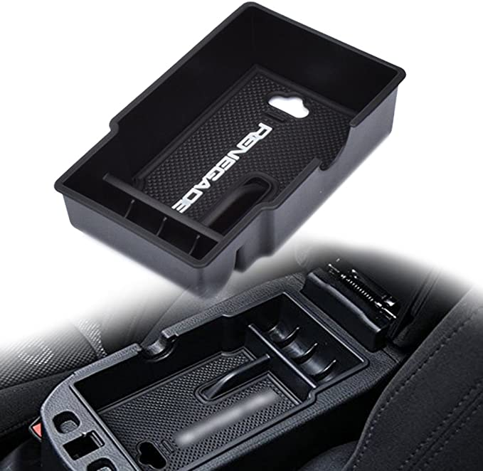 YOCTM For Jeep Renegade 2015-2018 2019 2020 GrabTray Co-pilot Grab Bar Storage Tray Organizer Box Interior Accessories