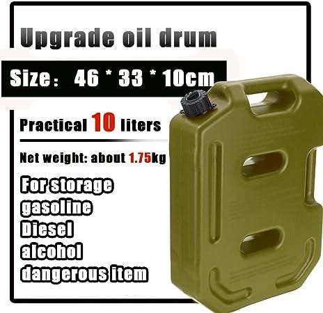Leak proof Bidón Gasolina 10L Tanque de Combustible plástico Caja de Almacenamiento de Aceite de Gasolina multifunción portátil Universal para camión de Coche Barco AntiestáticoGreen: Amazon.es: Hogar