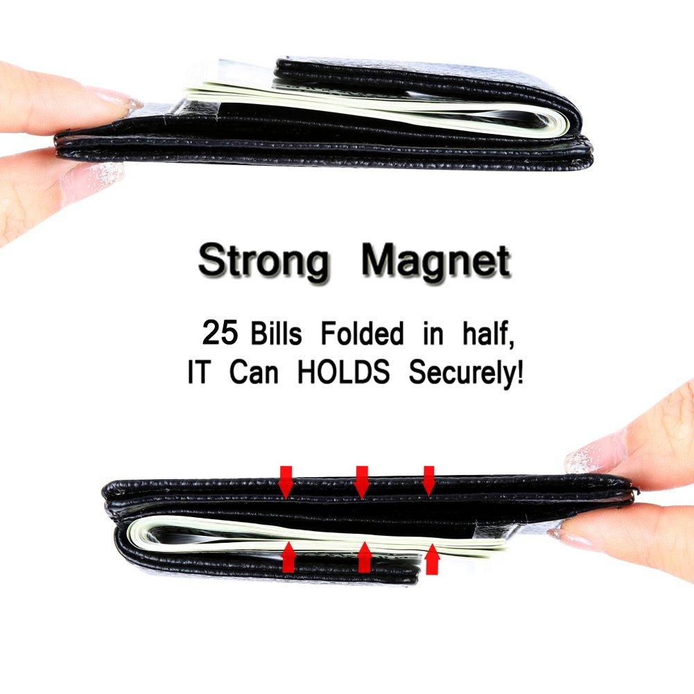 Money Clip, Front Pocket Wallet, Leather RFID Blocking Wallet Slim Minimalist Wallet for Men