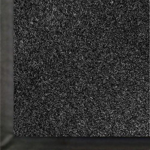 (M+A Matting 871 Impressionist Olefin Fiber Interior Floor Mat, Non-Woven Polyester and Vinyl Backing, 8' Length x 4' Width, Black )