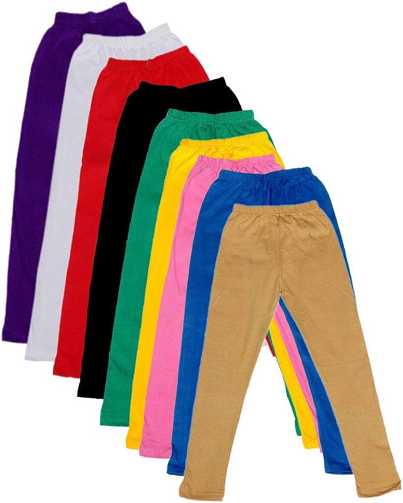 Indistar Kids Solid Leggings Pants Pack of 9 714020304050607080901-IW-26/_Multicolor/_4-5 Years