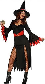 Sexy Bruja Bruja Disfraz Negro/Rojo M: Amazon.es: Juguetes y juegos