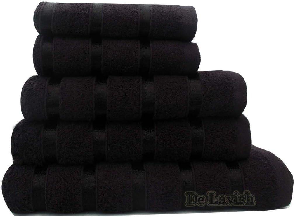 Egyptian Cotton Bath Sheet for Bathroom 500 GSM Large 100/% Luxury Satin Stripe Super Soft Combed Black