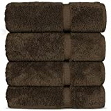 Luxury Premium long-stable Hotel & Spa Turkish Cotton 4-Piece Eco-Friendly Bath Towel Set (Cocoa)