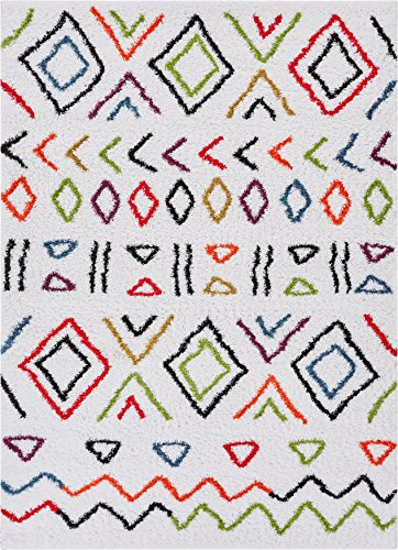 - Well Woven TR-14-3 Rhapsody FES Modern Moroccan Tribal Abstract Trellis Cream Area Rug 2' x 3' Doormat