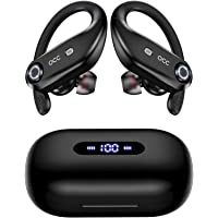 $45 » Bluetooth Headphones 4-Mics Call Noise Reduction 64Hrs Occiam Wireless Earbuds IPX7…