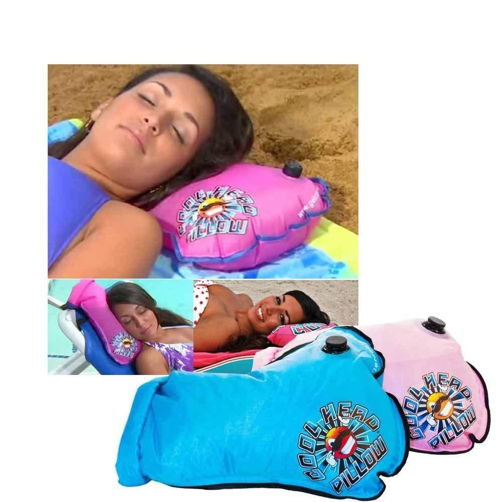 クールヘッド詰め替え可能ビーチ水枕 - ブルー B072YVSLGD ブルー