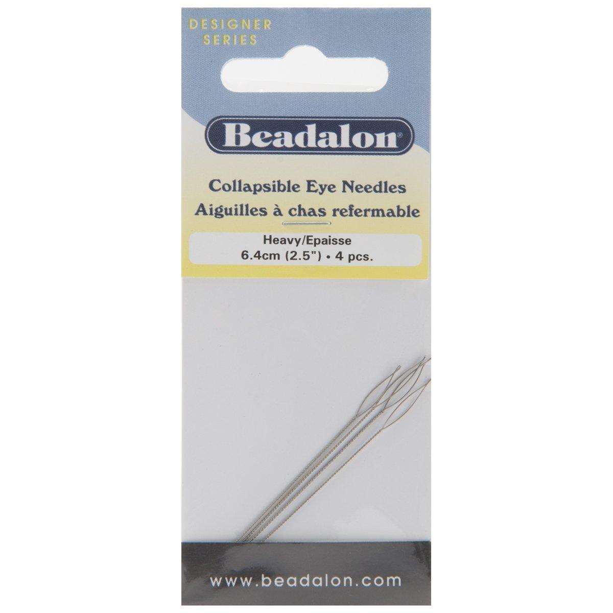 Collapsible Eye Needles 2.5 4/Pkg-Heavy Beadalon 27141639
