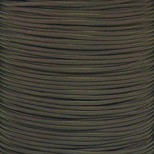 (PARACORD PLANET 10 20 25 50 100 Foot Hanks and 250 1000 Foot Spools of Parachute 550 Cord Type III 7 Strand Paracord (Olive Drab 100 Feet))