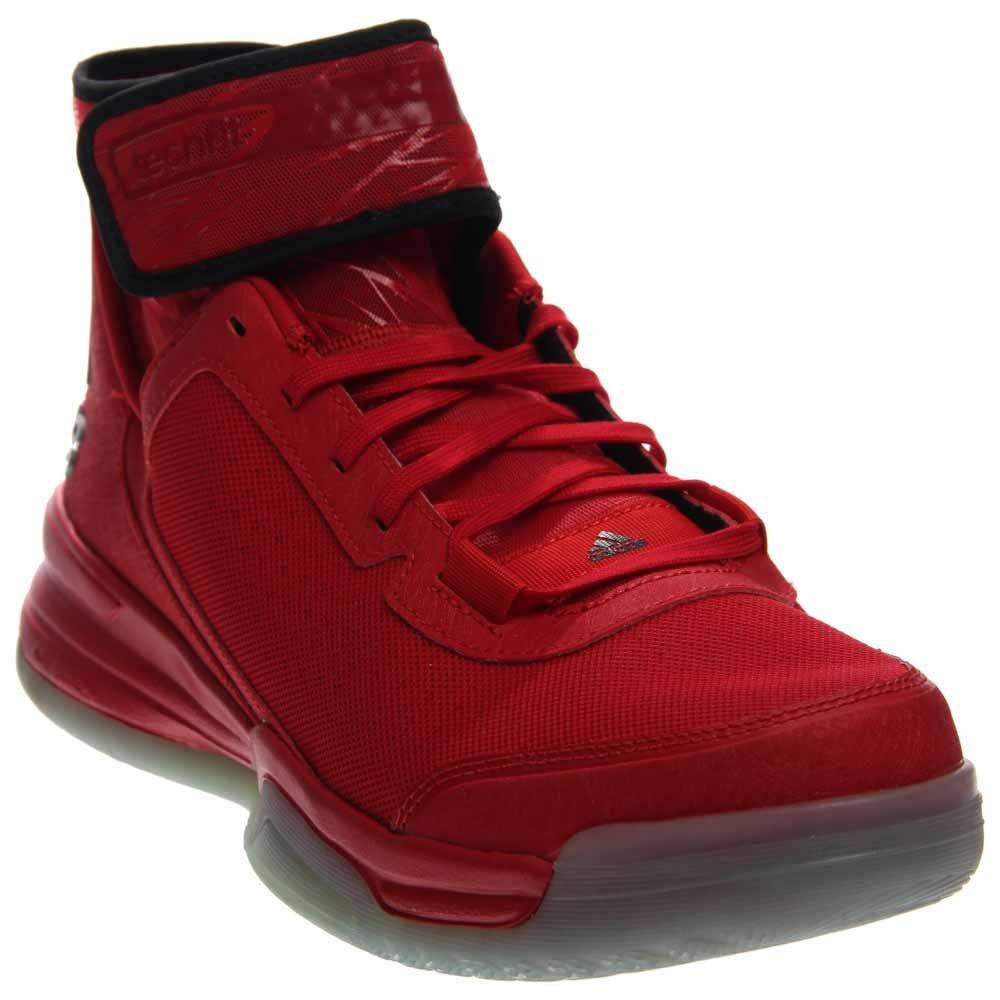 adidas Men's Dual Threat BB Basketball Shoes ScarletBlackWhite
