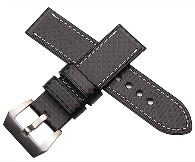 Leather Watch 24mm 26mm Richie amp;carbon Pattern 22mm Fiber Strap20mm UzpVMS