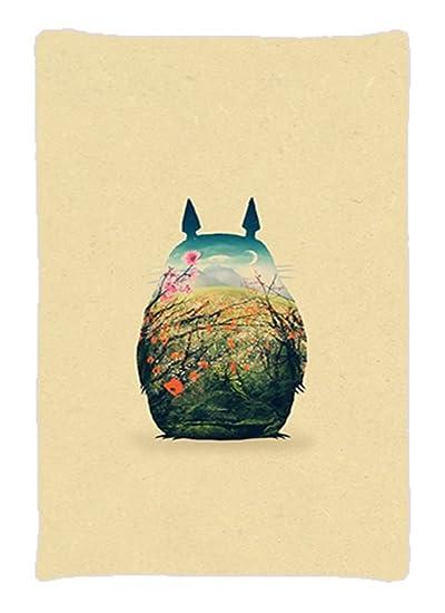 Amazon.com: Totoro silueta paisaje Custom tamaño estándar ...