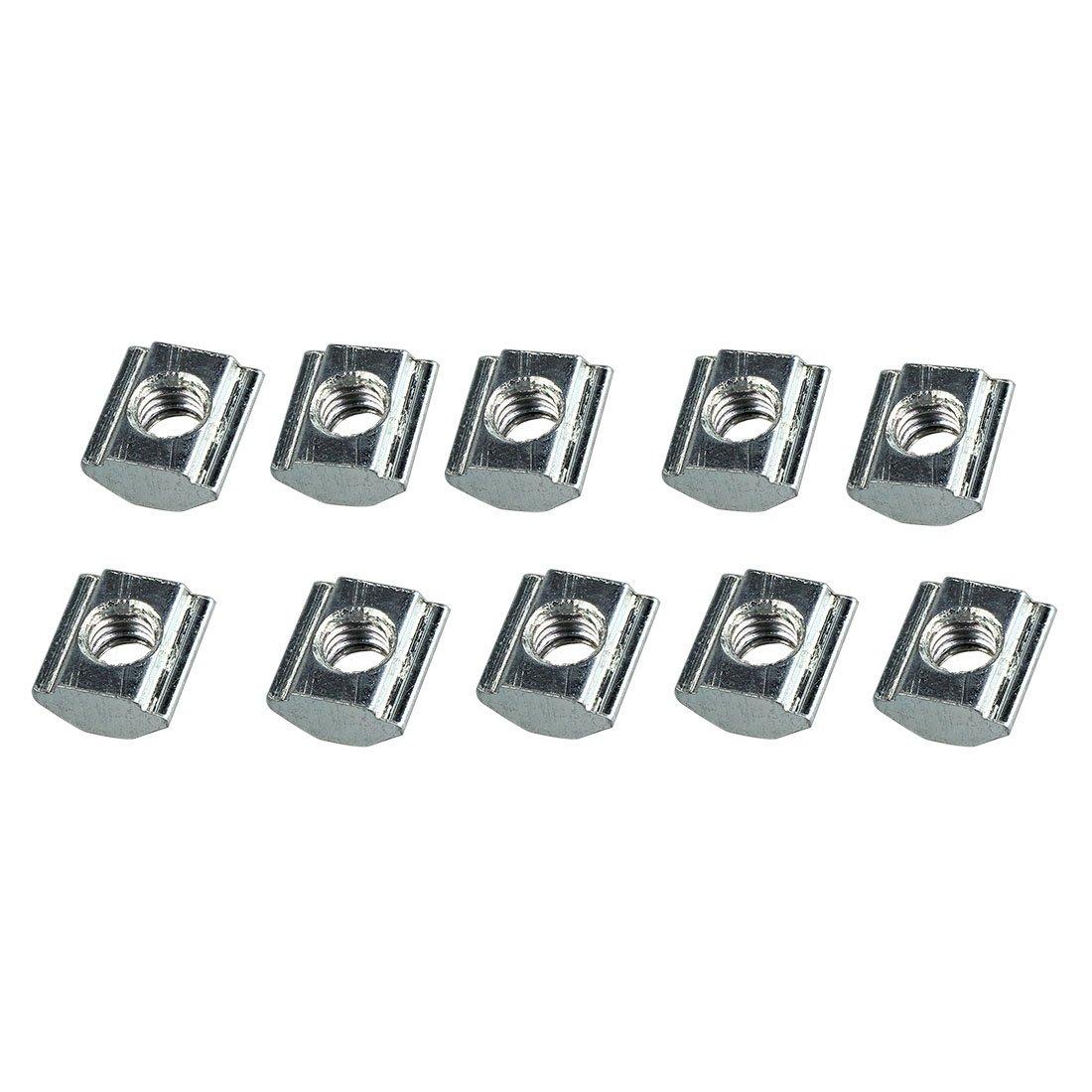 R Dadi a fessura T Dadi a fessura T di tipo M5 per 20 serie di 10 pezzi 80//20 pollici. SODIAL