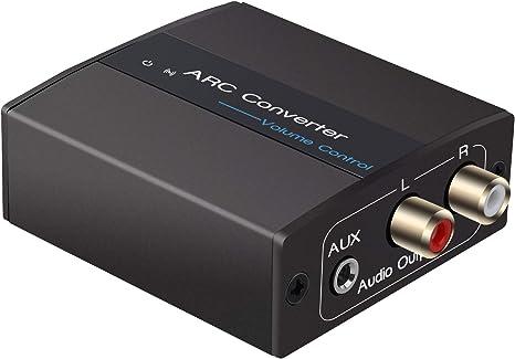 Convertidor Digital a Analógico, Tiancai Adaptador de HDMI ARC a R ...