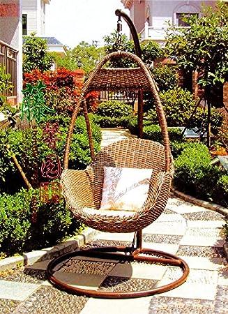 Amazon.de: Indonesien Importiert Rattan Möbel Stuhl Korb ...