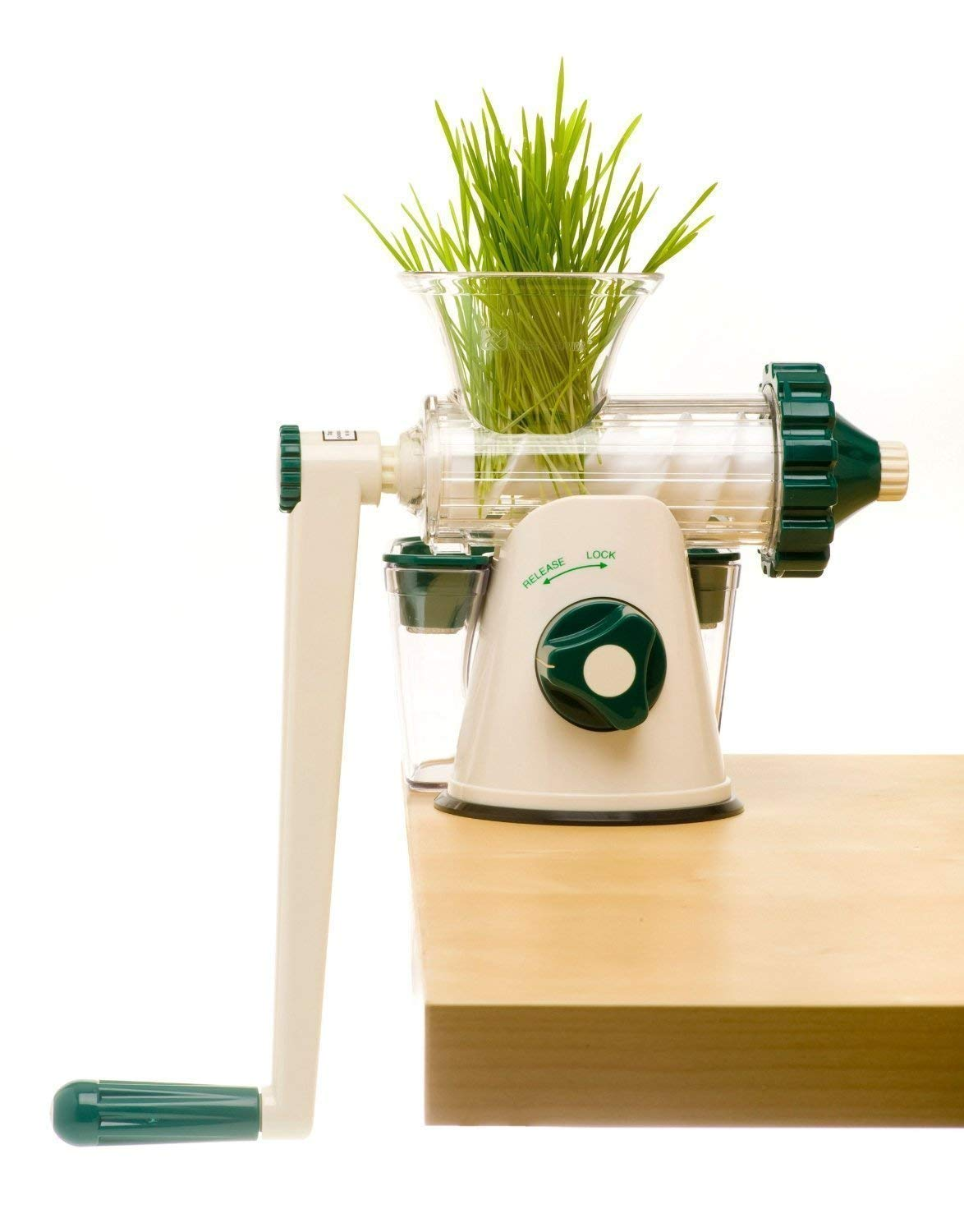 The Original Healthy Juicer (Lexen GP27) - Manual Juicer - Celery, Wheatgrass, Kale, Spinach, Parsley and any other Leafy Green! Featuring a masticating live-enzyme cold press process! by Healthy Juicer