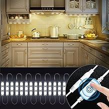 Kitchen Lighting, Kitchen Cabinets LED Lights with Smart Touch Dimmer,Under Cabinet Lights10ft 60 Leds Closet Kitchen Counter LED light (White)