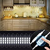 Kitchen Lighting, Kitchen Cabinets LED Lights with Smart Touch Dimmer,Under Cabinet Lights10ft 60 Leds Closet Kitchen Counter LED light (White)