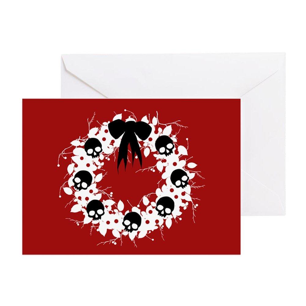 Amazon.com : CafePress - Gothic Christmas Wreath - Greeting Card ...