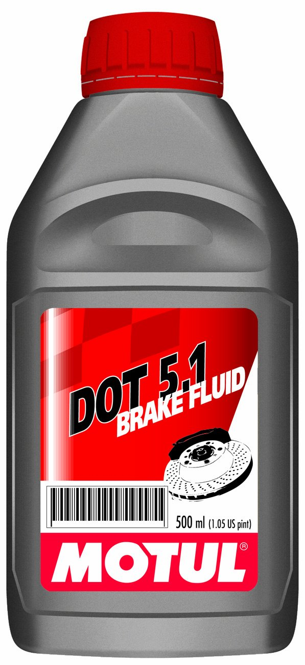 Motul 3364HL-12PK Dot 5.1 100 Percent Synthetic Non-Silicone Base Long Life Brake Fluid - 500 ml, (Case Pack of 12)