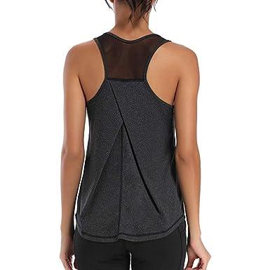 TTlove Activewear chaleco para mujer, camisas de entrenamiento ...