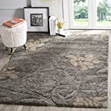 Cheap Safavieh Florida Shag Collection SG464-8013 Grey and Beige Area Rug (5'3″ x 7'6″)