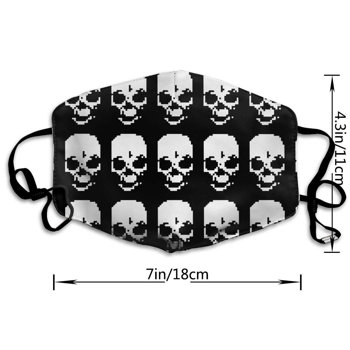 Amazon.com: OHMYCOLOR Skull Pattern Face Mouth Mask Unisex ...