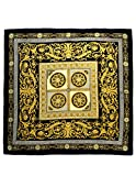 Dahlia-Womens-100-Square-Silk-Scarf-Leopard-Print-and-Chain