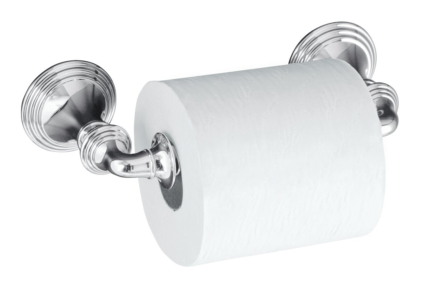 kohler k10554cp devonshire toilet tissue holder double post polished chrome toilet paper holders amazoncom - Kohler Devonshire
