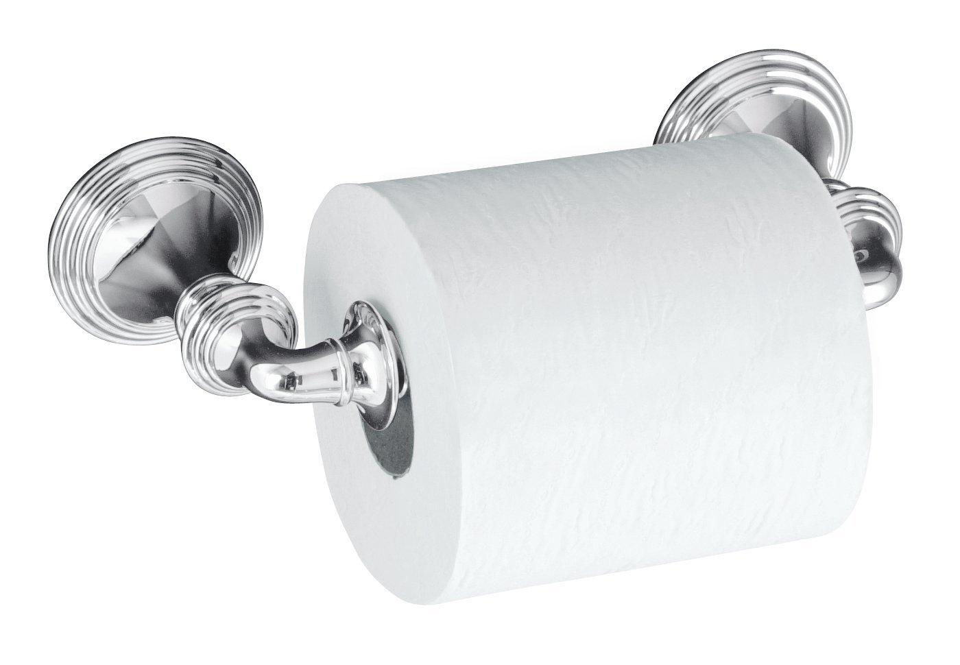 KOHLER K-10554-CP Devonshire Toilet Tissue Holder, Double Post, Polished Chrome
